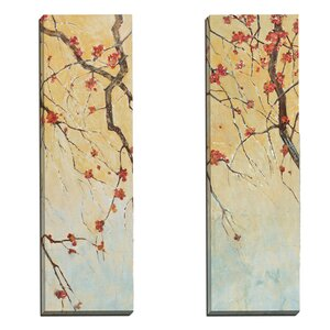'Blossom Panel I' 2 Piece Painting Print on Wrapped Canvas Set by World Menagerie