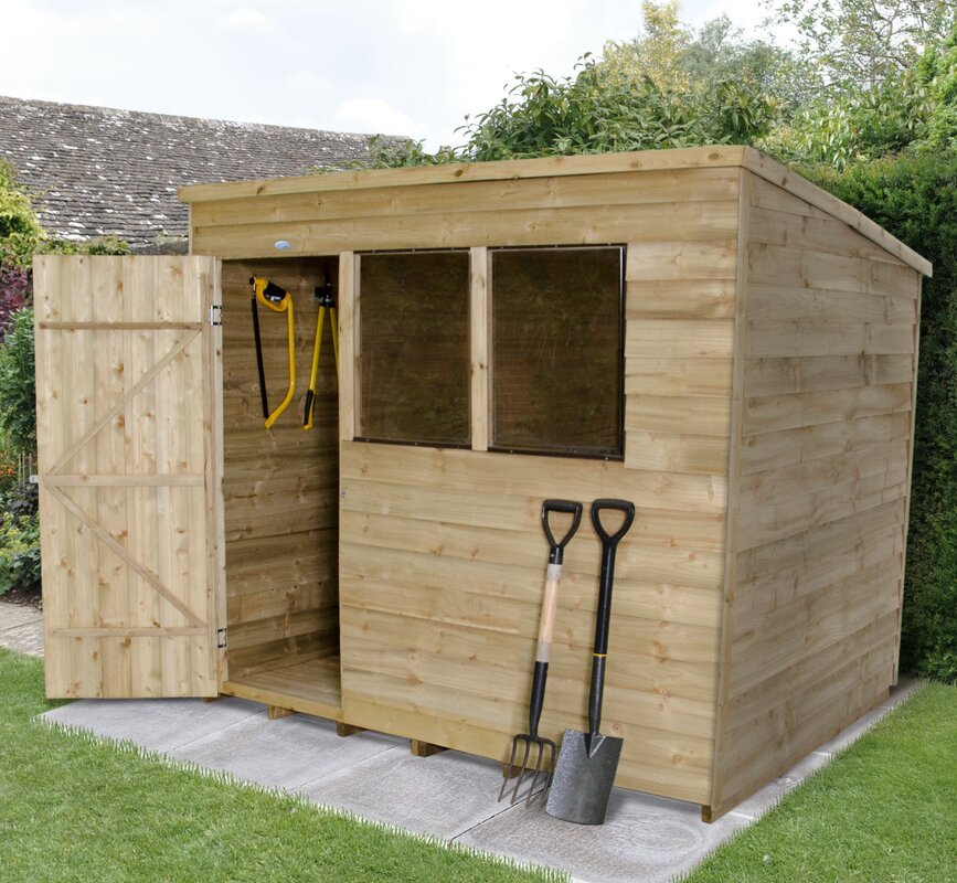 Forest Garden 8 Ft. W X 6 Ft. D Wooden Storage Shed