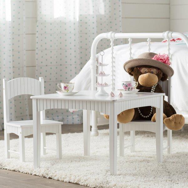 Viv Rae Lourdes 3 Piece Square Table And Chair Set