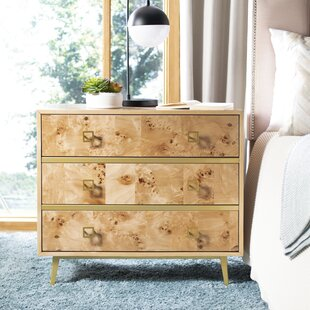 Best Reviews Bronaugh 3 Drawer Chest By Bungalow Rose