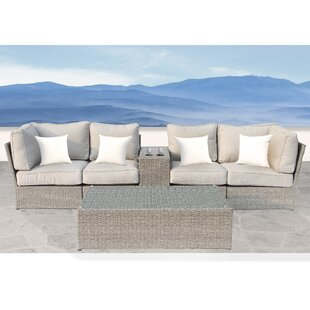 Winsford 4 Piece Sectional Set with Cushions By Rosecliff Heights