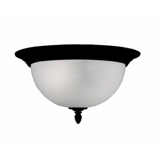 Read Reviews Columbard 2-Light Outdoor Flush Mount By Charlton Home