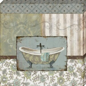 'Country Style Bath I' by Carol Robinson Graphic Art on Wrapped Canvas by Artistic Reflections