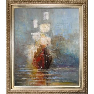 Nostalgy by Justyna Kopania Framed Hand Painted Oil on Canvas by Tori Home
