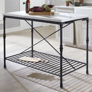 Affordable Castille Prep Table with Marble Top by Birch Lane™
