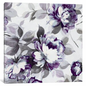 Scent of Plum Roses II Painting Print on Wrapped Canvas by Lark Manor