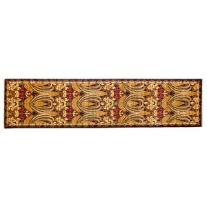 One-of-a-Kind Arts and Crafts Hand-Knotted Brown/Beige Area Rug