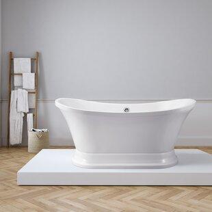 Affordable 68 x 34 Freestanding Soaking Bathtub ByStreamline Bath