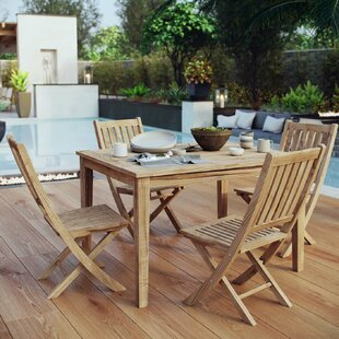 Cobb 5 Piece Teak Dining Set By Rosecliff Heights
