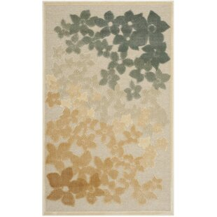 Find the perfect Flower Field Beige/Gray Area Rug By Martha Stewart Rugs