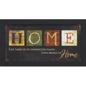 'Love Brings Us Home' Framed Textual Art by Winston Porter