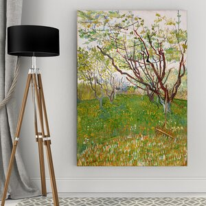 'The Flowering Orchard' by Vincent Van Gogh Framed Painting Print by Wexford Home
