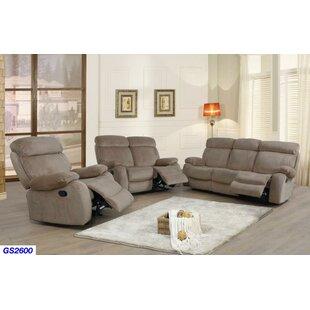 Jonael 3 Piece Reclining Living Room Set by Red Barrel Studio®