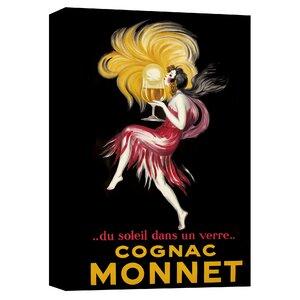 Cognac Monnet Vintage Advertisement on Canvas by Epic Graffiti