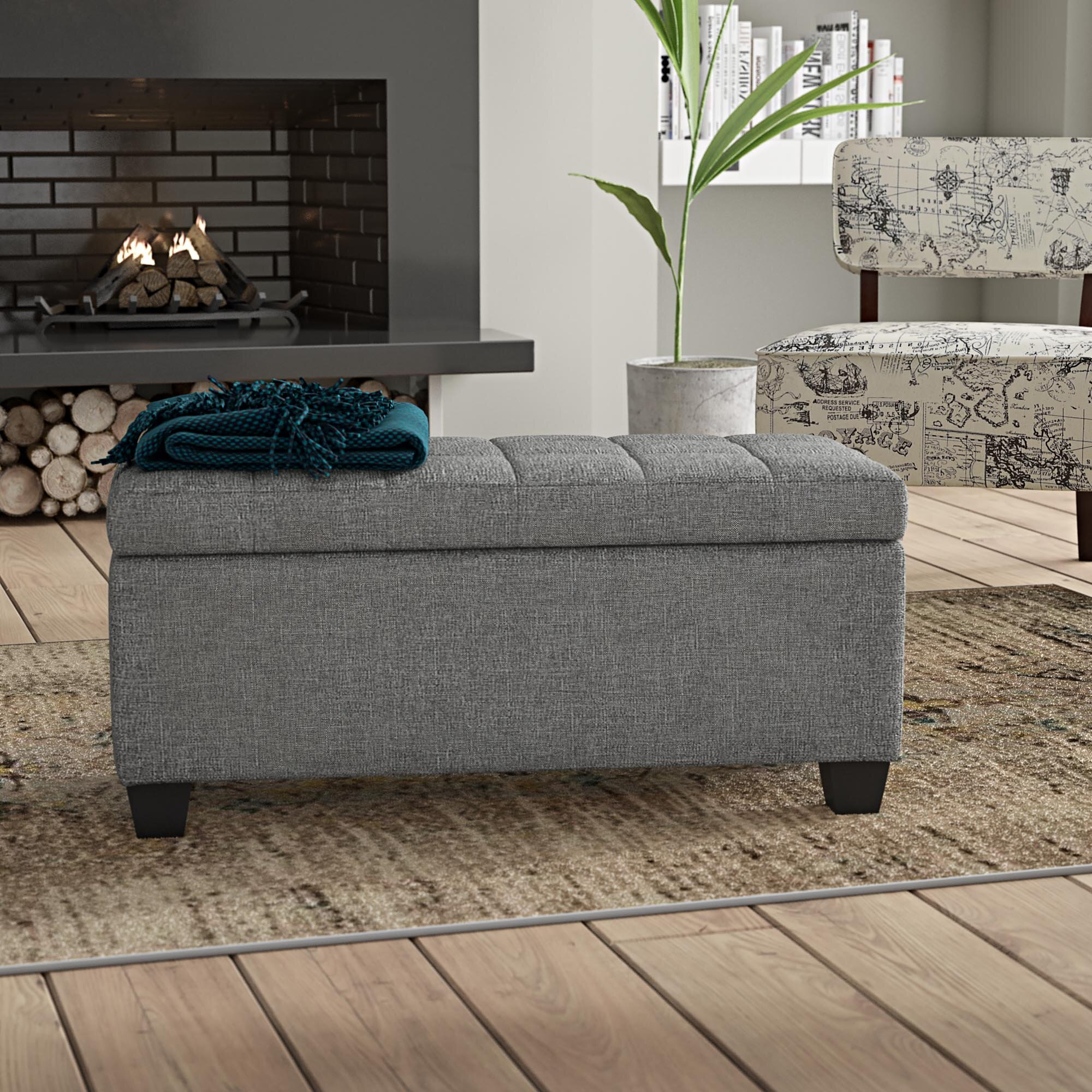 Peachy Pimentel Fabric Tufted Storage Ottoman Gmtry Best Dining Table And Chair Ideas Images Gmtryco