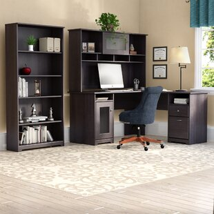 Hillsdale L-Shape Desk with Hutch and 5 Shelf Bookcase by Red Barrel Studio