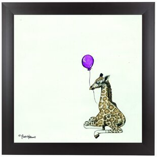 Nursery Giraffe Framed Painting Print