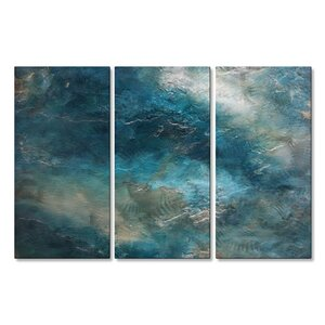 'Romantic Modern Expressionism 1.1' by Michele Morata 3 Piece Painting Print Plaque Set by All My Walls
