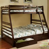 Sawicki Twin over Full Bunk Bed with Drawers byHarriet Bee