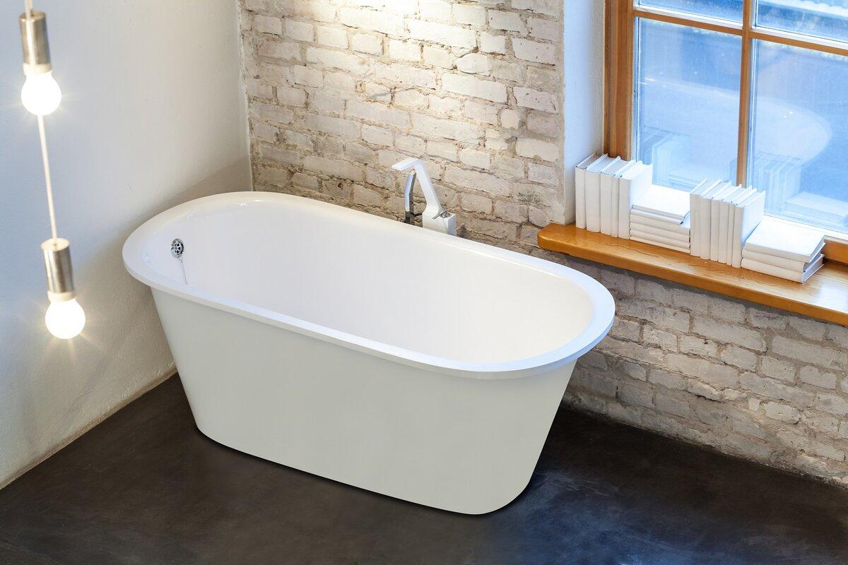 Aquatica inflection 61 5 x 29 5 soaking bathtub - Vasca da bagno piccola 120 ...