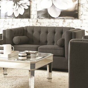 McDougal Modern Chesterfield Loveseat