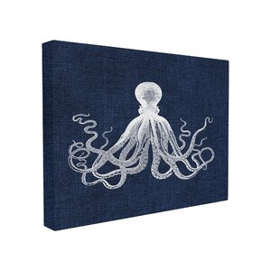 'Octopus' Graphic Art on Canvas by Beachcrest Home