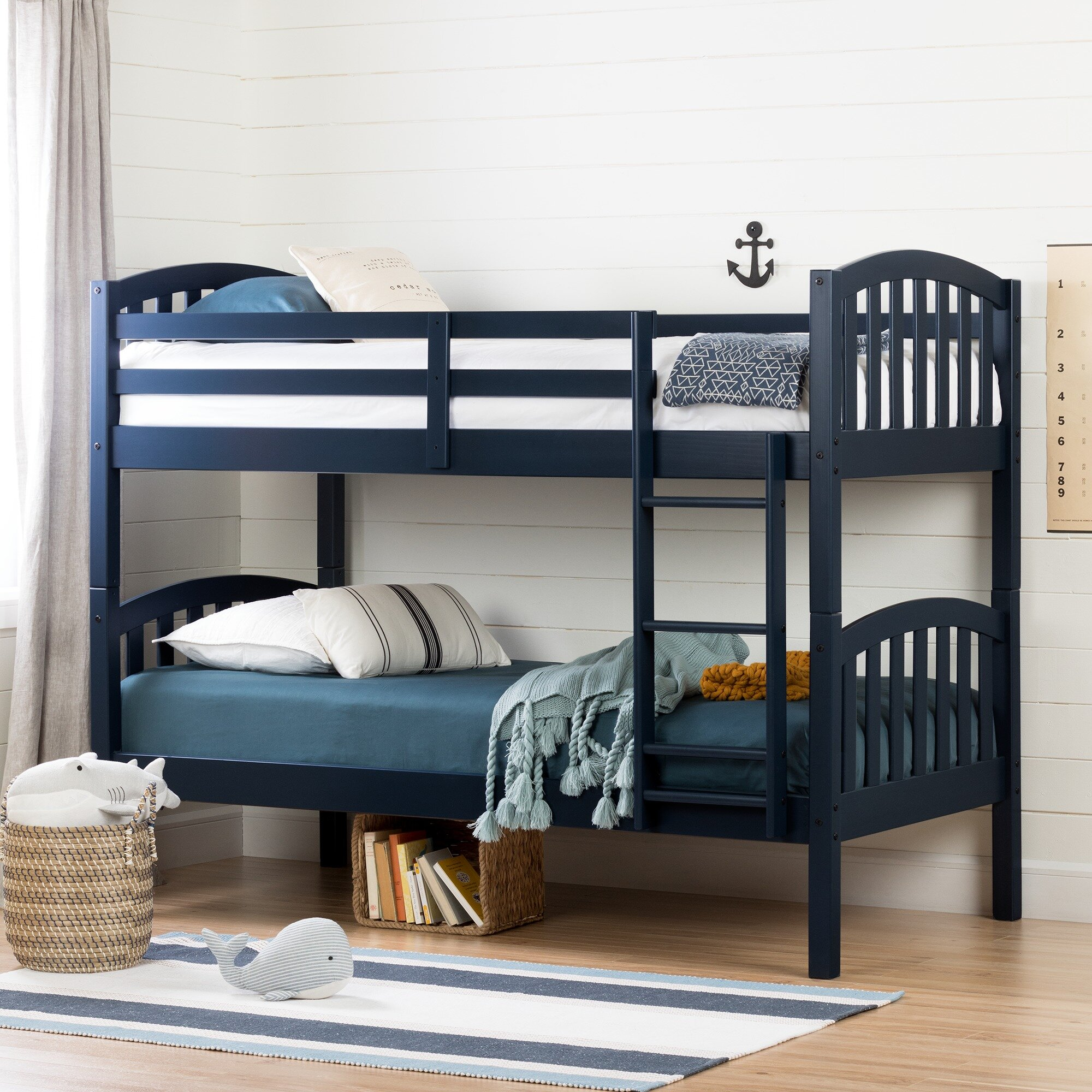Picture of: Three Posts Baby Kids Aviron Twin Bunk Bed Reviews Wayfair Ca
