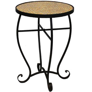Moroccan Mosaic Round End Table by Urban Designs