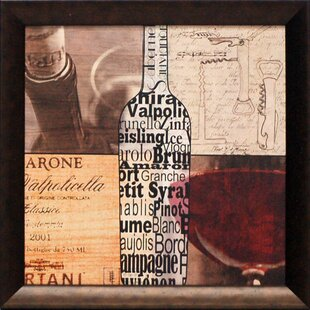 Wine Collage Framed Graphic Art