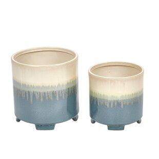 Louane 2-Piece Ceramic Pot Planter Set by Bungalow Rose