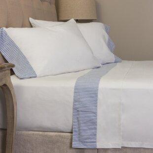 Striped 280 100% Cotton Sheet Set ByAmity Home