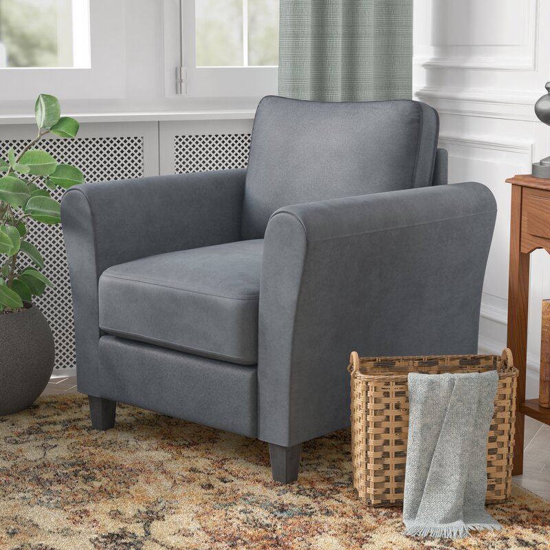 Patricia Rolled Armchair By Charlton Home Affordable