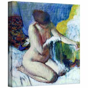 'After the Bath' by Edgar Degas Painting Print on Wrapped Canvas by ArtWall