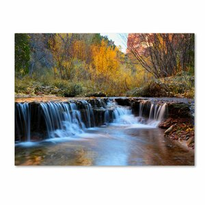 Zion Autumn Photographic Print on Canvas by Loon Peak