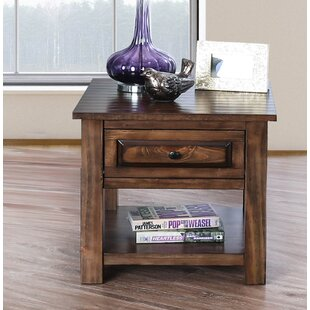 Best Price Jansen Farmhouse End Table with Storage By Alcott Hill