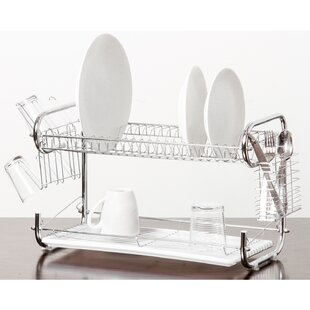 Inexpensive Organizer 2 Tier Holder Drainer Dish Rack By Imperial Home