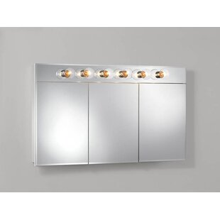 Read Reviews Ashland 47.75 x 27.75 Surface Mount Medicine Cabinet with Lighting By Jensen