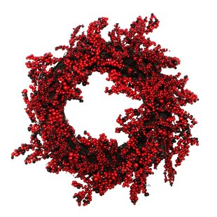 decorative artificial berry christmas wreath with unlit - Large Outdoor Christmas Wreath