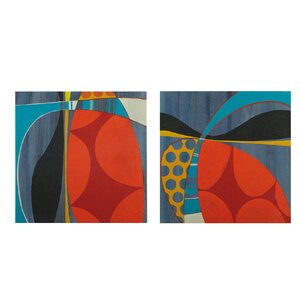 'Contempo Pop' 2 Piece Painting Print on Wrapped Canvas Set by INK+IVY
