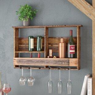 Aubrie West Covina Wall Mounted Wine Bottle Rack
