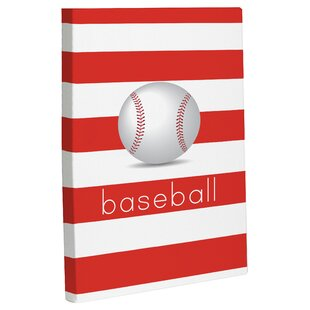 Baseball Graphic Art On Wrapped Canvas