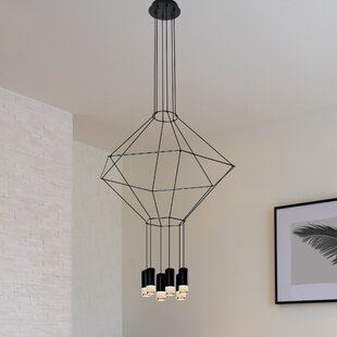 Read Reviews Quaoar Modern 4-Light LED Chandelier By Brayden Studio