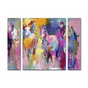Wild by Richard Wallich 3 Piece Painting Print on Wrapped Canvas Set by Latitude Run