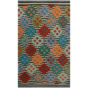 Compare & Buy One-of-a-Kind Renita Kilim Hand-woven Wool Ivory/Black Area Rug By Isabelline