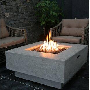 Bon Manhattan Concrete Natural Gas Fire Pit Table