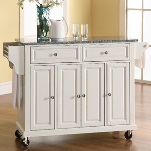 Pottstown Kitchen Cart/Island with Granite Top ByDarby Home Co