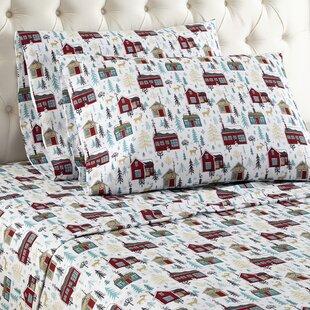 Buchholtz Cabins Flannel Sheet Set ByAlcott Hill