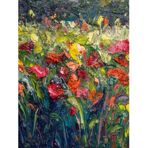 Thick Bloom by Jeff Boutin Painting Print on Wrapped Canvas by Hadley House Co