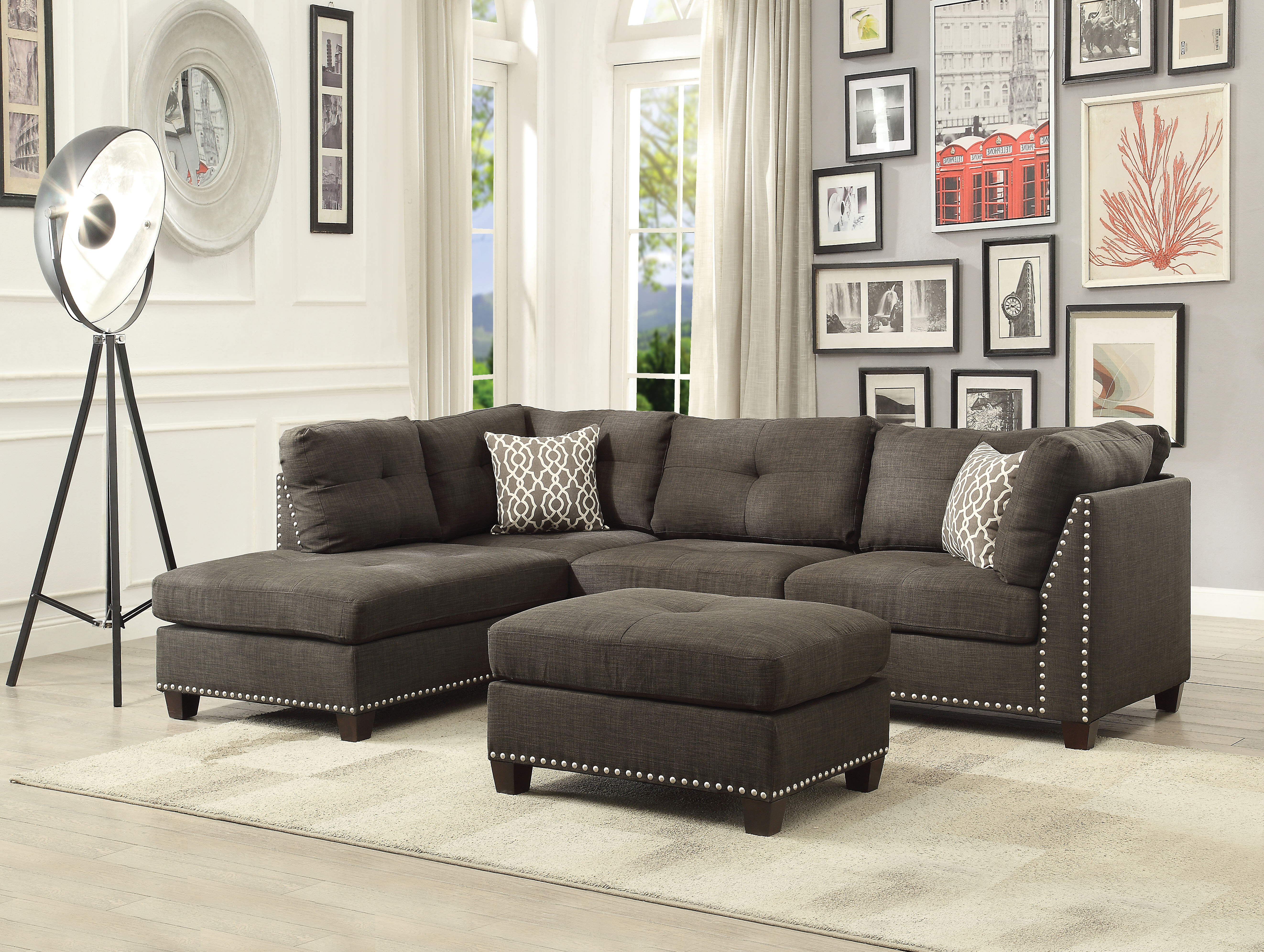 Alcott Hill Draco Sectional Sofa With