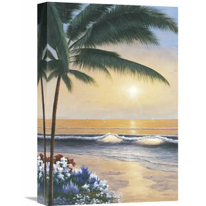 'Palm Beach Sunrise' by Diane Romanello Painting Print on Wrapped Canvas by Global Gallery